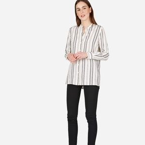 Everlane Relaxed Silk Collarless Shirt